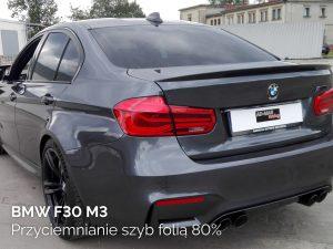 BMW F30 M3 przyciemnianie szyb folią 80%