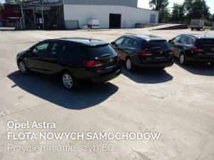 Opel Astra flota nowych samochodów przyciemnianie szyb 80%
